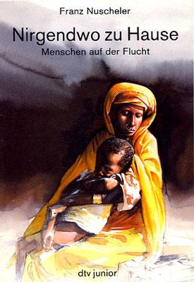 Titel: Nirgendwo zu Hause, Kunde: dtv junior Verlag, Technik: Bleistift, Aquarell, Entstehung: 1986