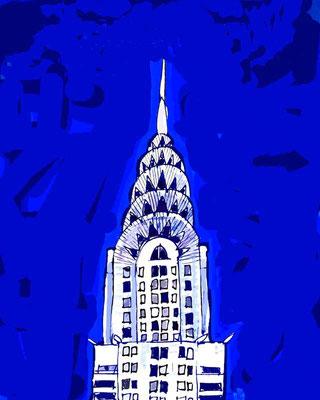 CHRYSLER BUILDING, 2005, Acryl auf Leinwand, 95 x 120 cm