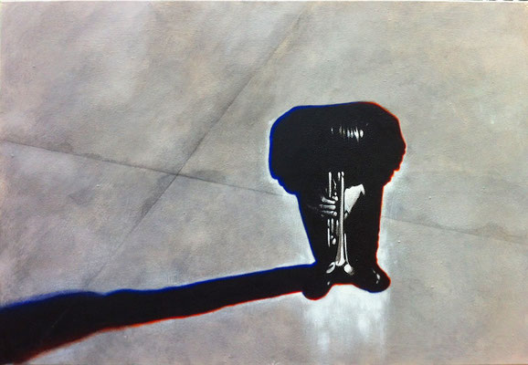 Chet Baker, Acryl auf Leinwand, 70 x 100 cm
