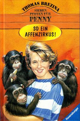 Titel: So ein Affenzirkus, Kunde: Ravensburger Buchverlag, Technik: Bleistift, Acryl, Airbrush, Entstehung: 1998