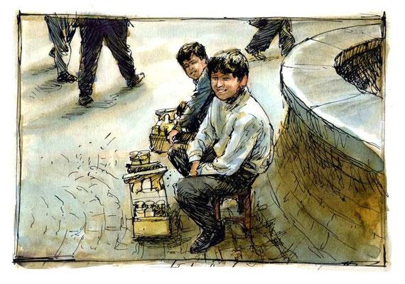 ISTANBUL-1, 1995, Tusche, Aquarell, 11 x 16 cm