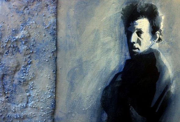 TOM WAITS - Beton, Acryl, Wachs, Öl - 70 x 100 cm