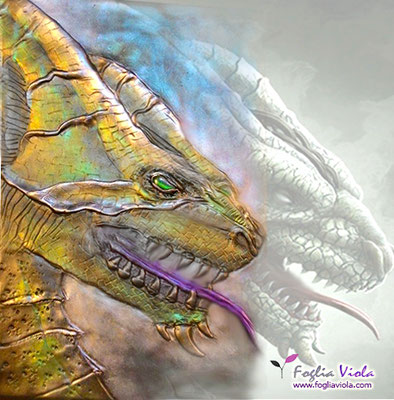 Diario del Drago, handmade dragon cover