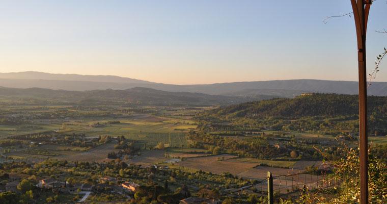 Petite Beauté - Morgensonne taucht die Landschaft der Provence in warmes Licht