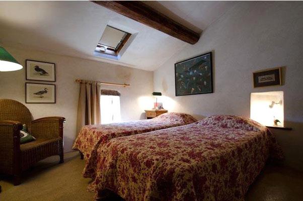 Les Peyrières - Schlafzimmet mit zwei Einzelbetten