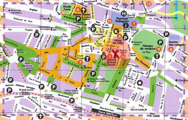 Situation de l'appartement dans Aix-les-bains (Zoom)