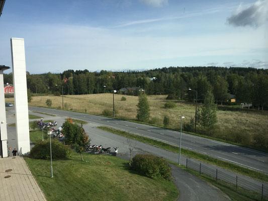 Aussicht aus dem Schultreppenhaus