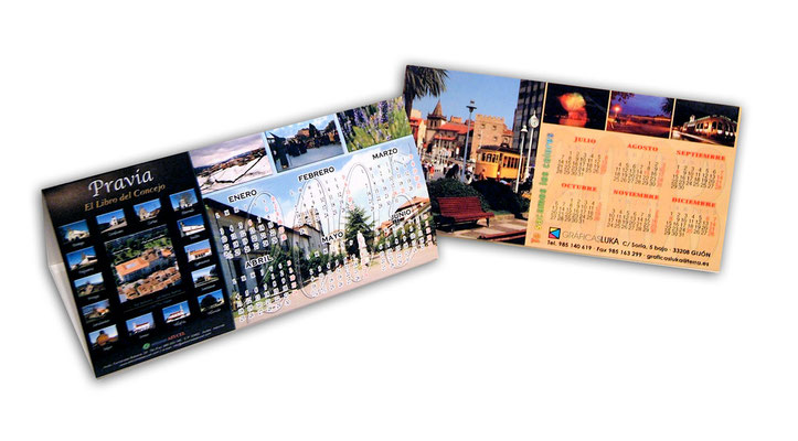Calendarios - Fotografías, diseño y maquetación