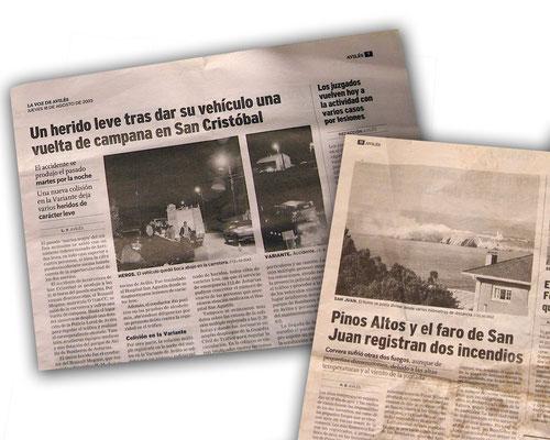 Fotos para periódicos - La Voz de Avilés 2005