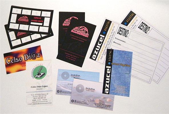 Tarjetas de visita y otros - Diseño corporativo