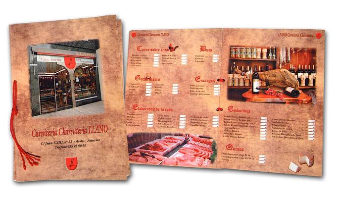 Cartas y menús - Fotografías, diseño, maquetación e impresión