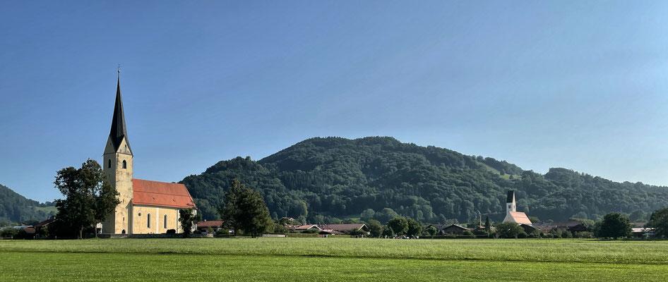 Blick zurück auf Nußdorf am Inn