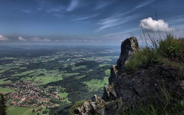 Panoramablick beim Abstieg