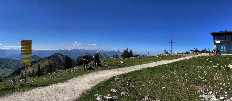 Am Hochries-Gipfel