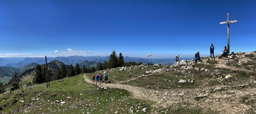 Start am Hochries Gipfel