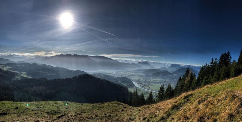 Fernsicht am Kranzhorn-Gipfelanstieg
