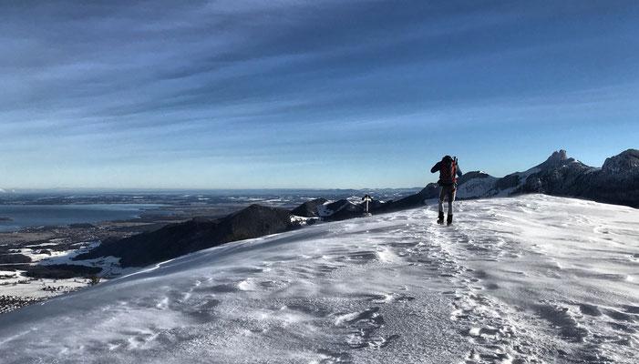 Kurz vorm Laubenstein Gipfel im Winter