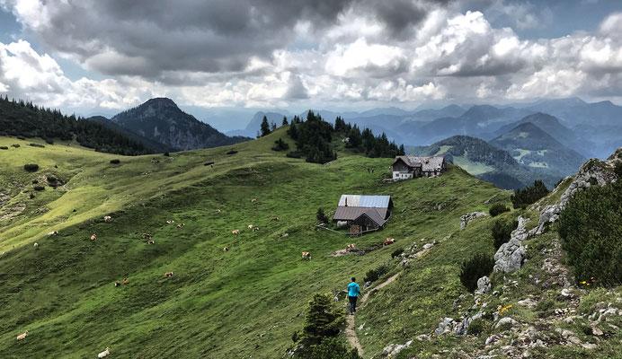 Blick zurück auf die Klausenhütte