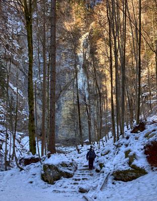 Auf dem Weg zum Schoßrinn Wasserfall