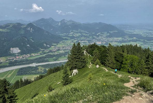 Abstiegsweg vom Grasgipfel