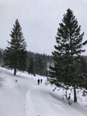 Auf den Weg von der Frasdorfer Hütte zur Winterstubn