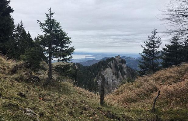 Blick auf Zellerhorn und Chiemsee