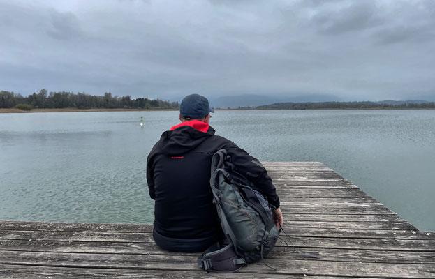 Pause am Badesteg bei Hochstätt