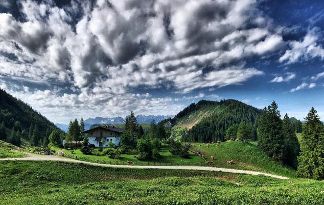 Sommerlicher Blick von der Priener Hütte zurück