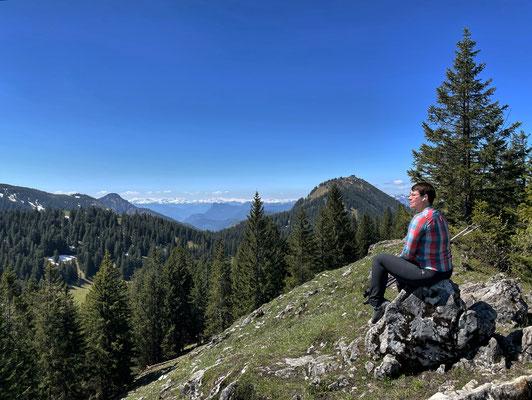 Pause am Riesenberg-Gipfel