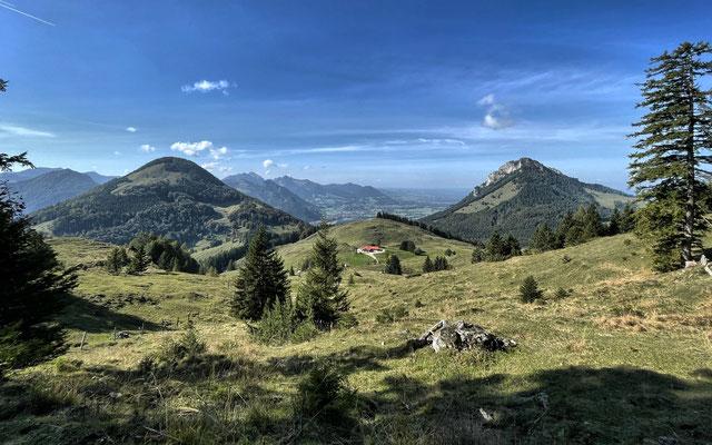 Aussicht beim Abstieg zur Pasteralm