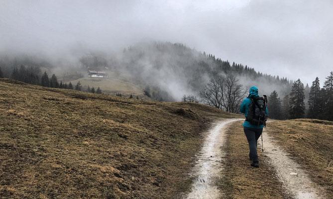 Auf dem Weg von der Frasdorfer Hütte zur Winterstubn
