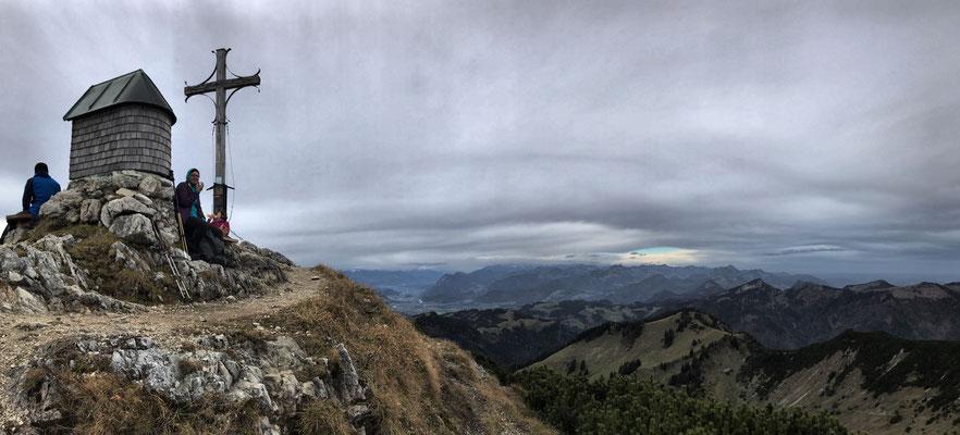 Rast am Geigelstein Gipfel