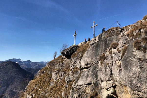 Die beiden Gipfelkreuze am Kranzhorn