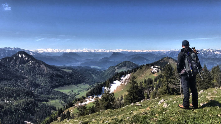 Ausblick an der Hochries-Hütte