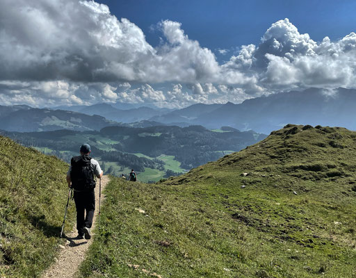 Abstieg von der Kranzhorn Alm