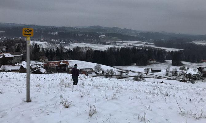 Aussicht von Haslau im Winter