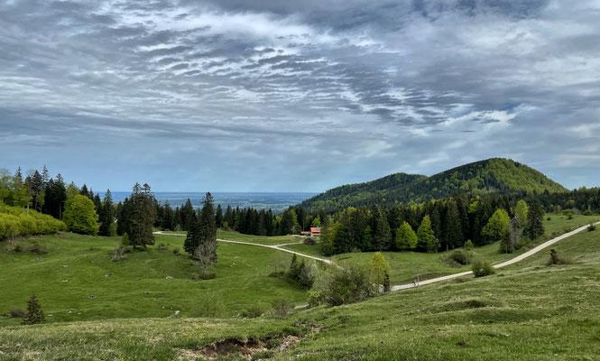 Blick auf die Frasdorfer Hütte