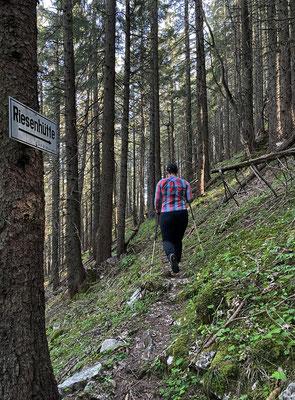 Am schmalen Pfad zum Riesenberg