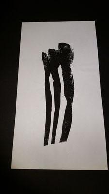 Ohne Titel, Linoldruck 2014