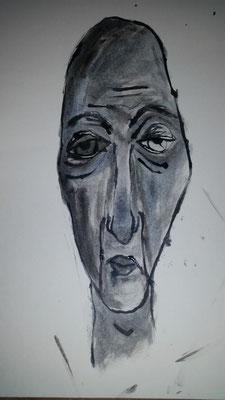 """aus der Reihe """"Weisse Westen""""   Tinte auf Papier 2016"""