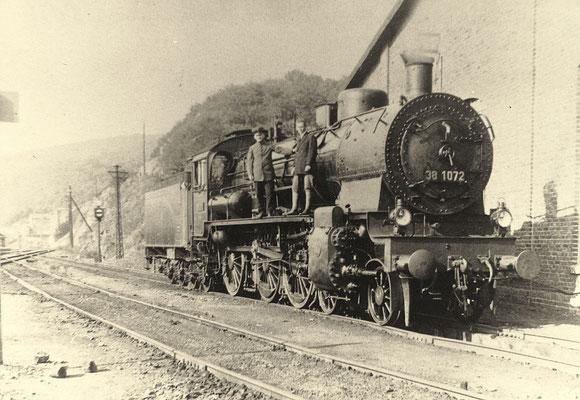 Dillenburg 1927: P8 38 1072 im Bahnbetriebwerk