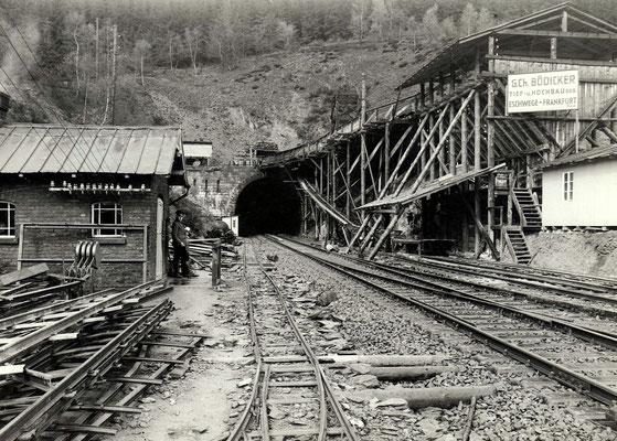 Tunnelportal mit oberhalb liegendem Arbeitsstollen, 24.04.1939