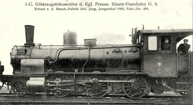 Güterzuglok der preußischen Bauart G5 von 1900