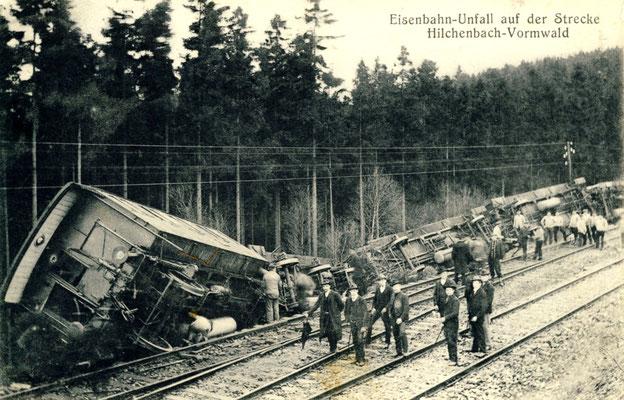 Im Dezember 1907 ereignete sich ein Unfall nahe des Bahnhofs Vormwald (Aufnahme: Sammlung Dr. Richard Vogel, Berlin)