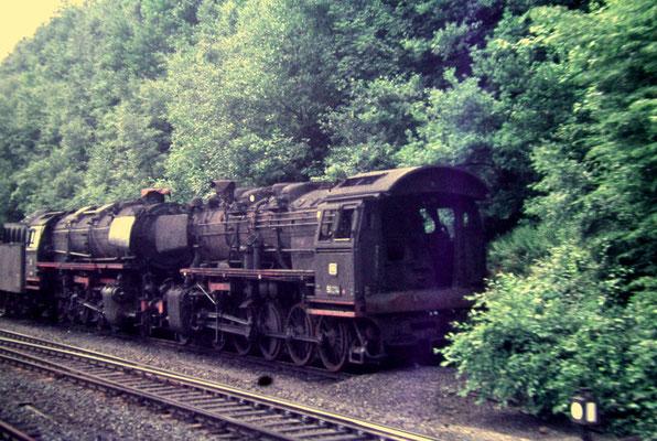 Betzdorf im Juli 1968: ausgemusterte 50 234 und 44 am Bw (Aufnahme: Dr. Richard Vogel, Berlin)