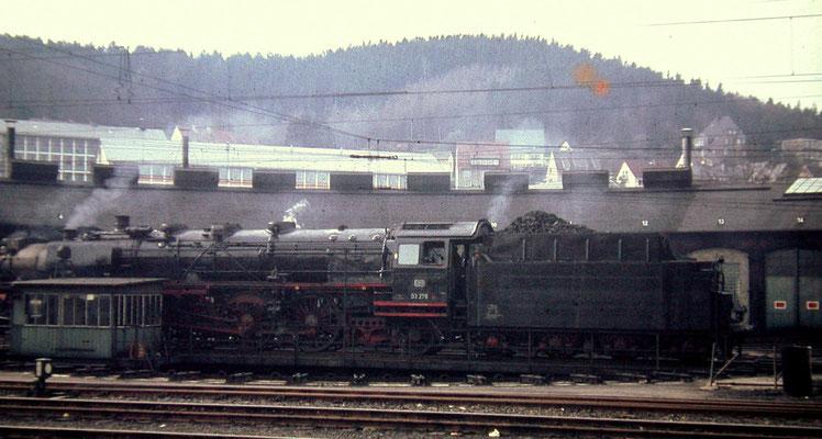 03 276 Bw Köln-Deutzerfeld wird zur Rückfahrt nach Köln gedreht, 1967