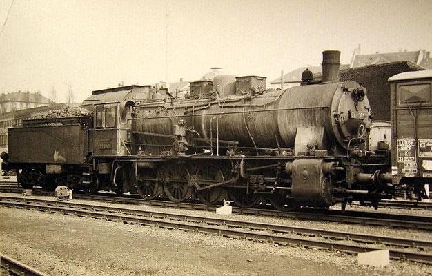 Hagen 1960: Lok 57 2501 Bw Hagen Gbf im Rangierdienst