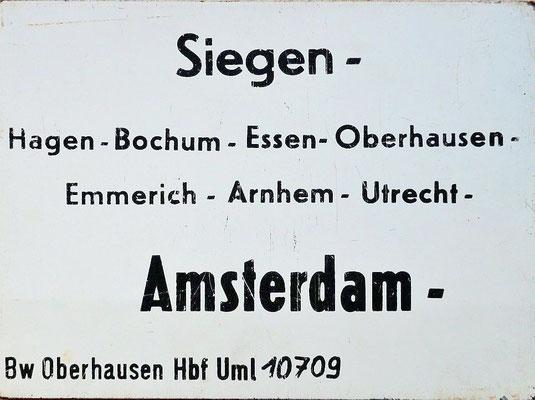 Eilzug von Siegen über Hagen nach Amsterdam