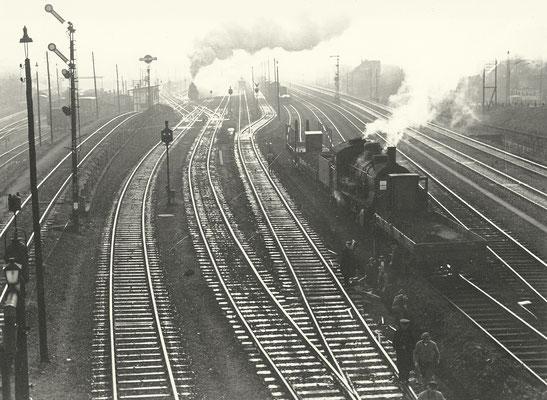 1930: Lok der Baureihe 55.15 im Verschiebedienst