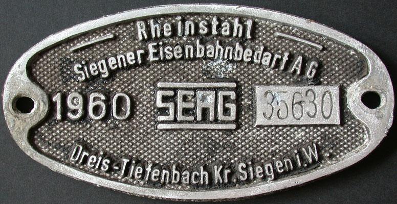 1960: Rheinstahl/SEAG, Fabrik-Nummer 35630